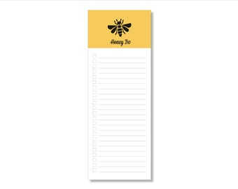 honey do // notepad // bumblebee // yellowbee // list // to do // lines // checkbox // skel // skel design // skel & co