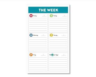 the week // notepad // list // notes // to do // skel // skel design // skel & co
