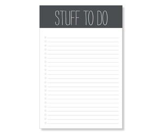 stuff to do // notepad // list // to do // checkbox // black and white // skel // skel design // skel & co