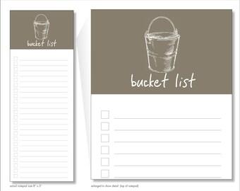 bucket list // notepad // lines // checkbox // list // to do // skel // skel design // skel & co