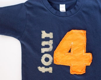 Applique Number Toddler Birthday shirt, (No Ink) 1st birthday, 2nd birthday, 3rd birthday, 4th birthday, 1,2,3,4,5 Free Shipping