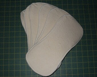 12 contoured inserts Organic Hemp fleece/Zorb