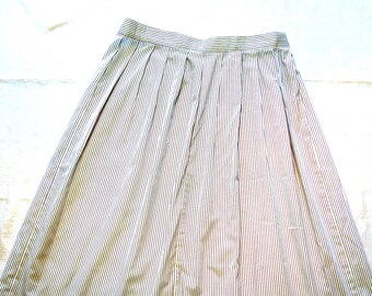 Vintage Alfred Sung Dirndl Striped Skirt 1990s Girl Guides of Canada Official Uniform Guide Scouts Original GGC Buttons