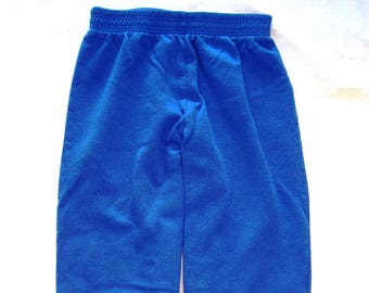 Vintage Alfred Sung Designed Trousers Track Pants Copen Blue 1980s Girl Guides of Canada Official Camp Uniform Guide Scouts