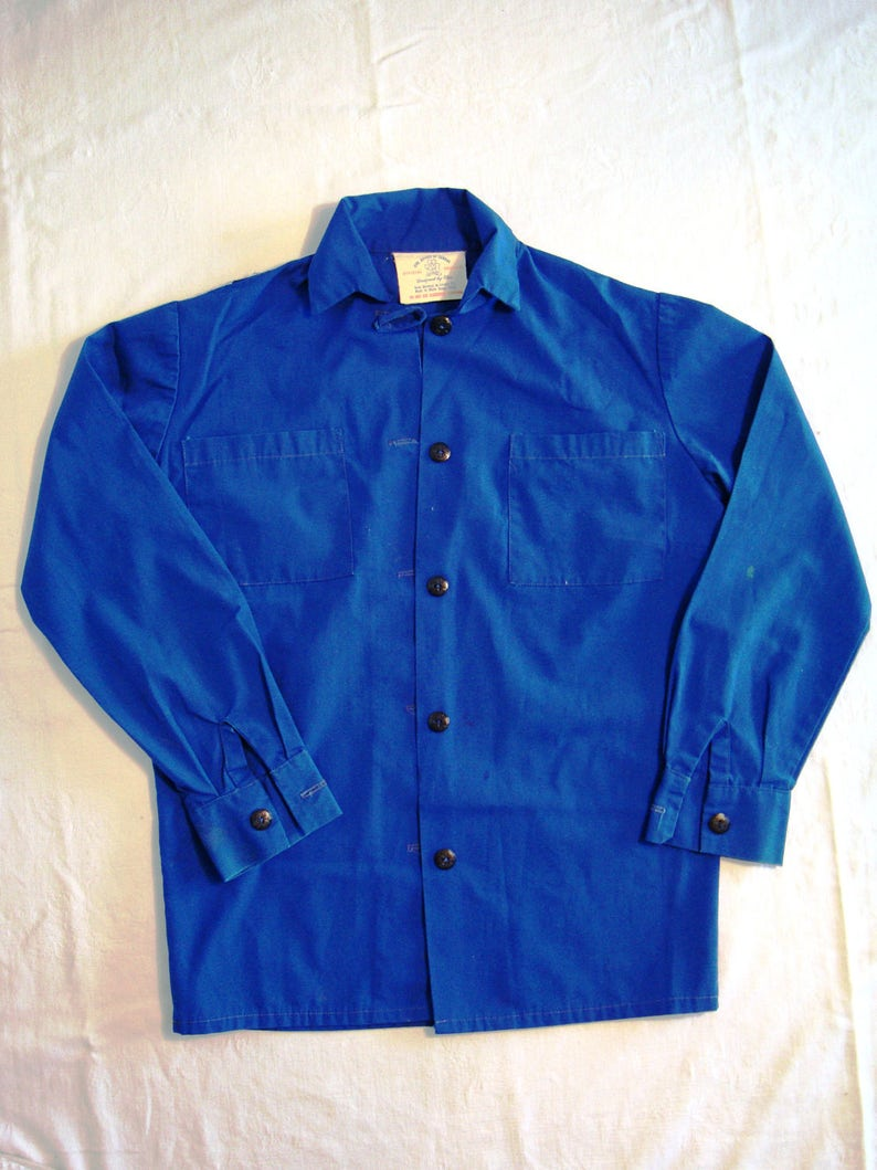 Vintage Girl Guide Uniform Blouse 1960s By Elen Original GGC Buttons Girl  Guides Canada Official Guides Scouts Copen Blue