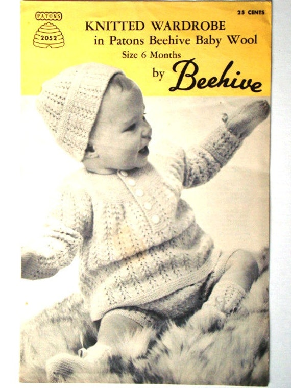 Vintage Knitted Wardrobe Pattern Patons Beehive No 2052 | Etsy