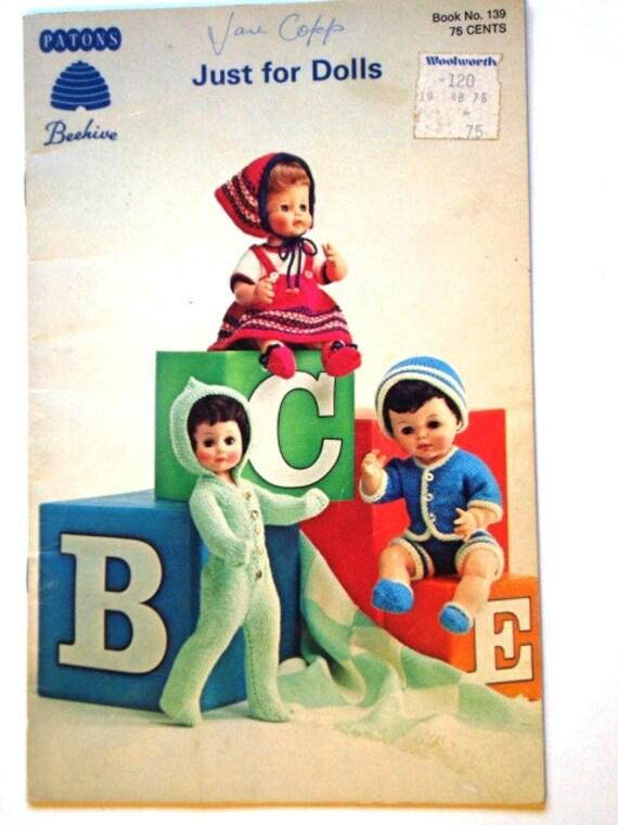 Vintage solo para muñecas patrón cuaderno de los Patons | Etsy