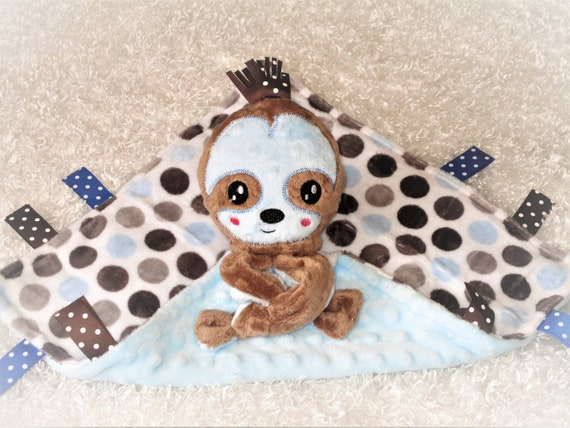 Personalize Baby Blanket And Sloth Toy Minky Lovey With Etsy