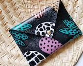 Leather Envelope Wallet - Business Card Holder - Credit Card Holder - Adaora