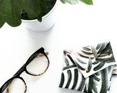 Leather Envelope Wallet- Business Card Holder - Credit Card Holder- Palm Print