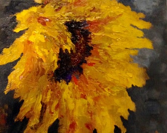 Original Oil Painting Sunflower 8 X 10