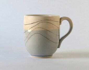 Incised Spiral - Stoneware mug