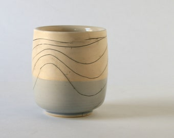 Incised Spiral - Stoneware Cup