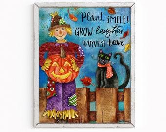 Plant Smiles Art Print