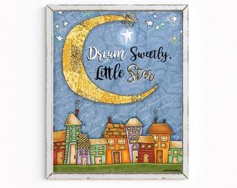 Dream Sweetly, Little Star Art Print