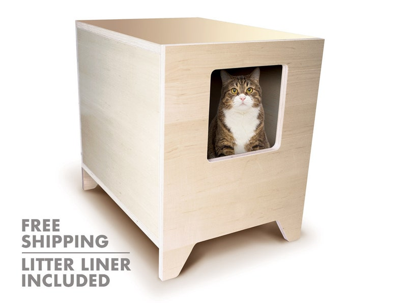 CURIO Modern Litter Box Solution  Litter Liner Included  Cat image 0