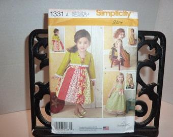 299ce1b199c Simplicity 1331 Girls or toddler dress and bolero pattern 2014 new uncut size  1 2 - 4