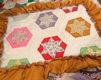 vintage quilted pillow sham