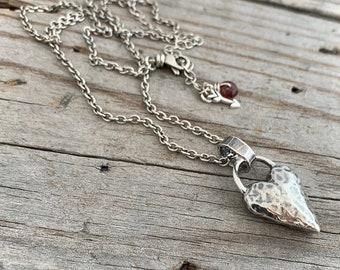 82174c69a Sterling Silver Heart Necklace Handmade Jewelry By Wild Prairie Silver  Jewelry Joy Kruse