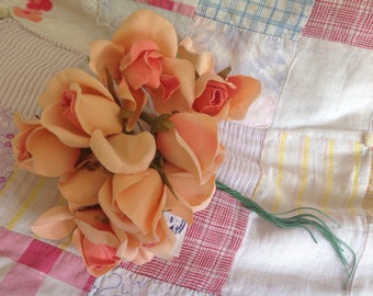 Peach  Vintage Millinery Flowers