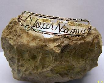 4 Wire Name Bracelet