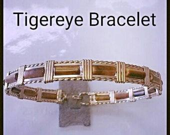 Tigereye Mini Tube Bracelet