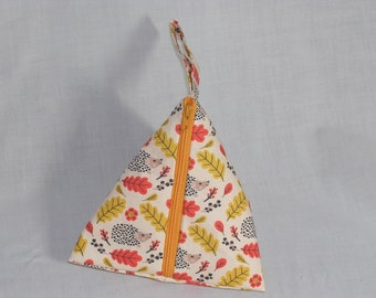 Autumn Hedgies Pyramid Pouch