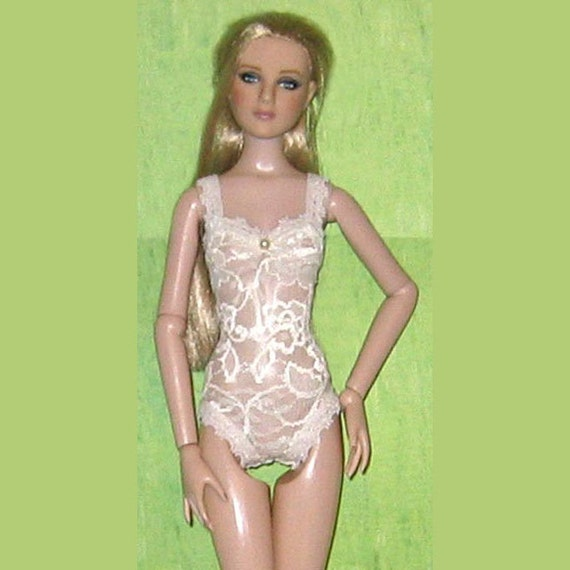 Ready2Wear Sheer Ivory Lace Teddy Lingerie Outfit Fits Antoinette MSD