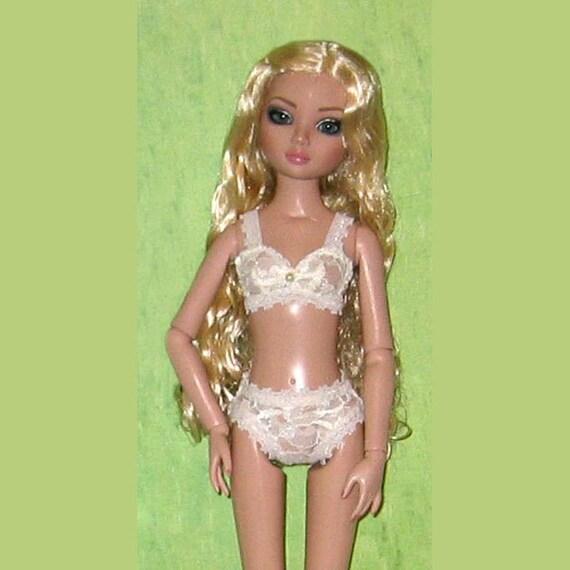 Ready2Wear Sheer Ivory Lace Cami /& Bikini Lingerie Set fit DeeAnna /& DeDe Denton