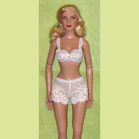 Ready2Wear Sheer Ivory Bra /& Tap Pant Lingerie Outfit fit Modern /& Vintage Cissy