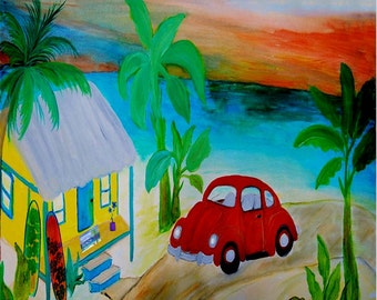 red vw placemat etsy rh etsy com beach house vw commercial vw bench seat covers