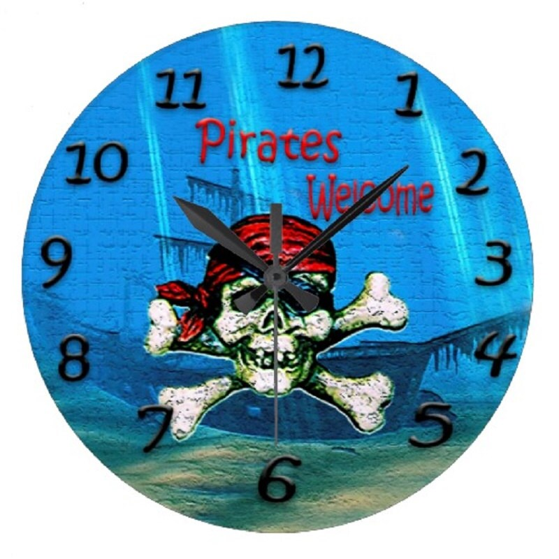 Pirate Mermaid Party Wall Clock Etsy