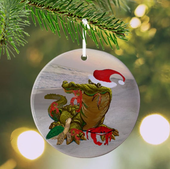 image 0 - Cajun Christmas Holiday Ornaments And Coasters Decor From My Etsy