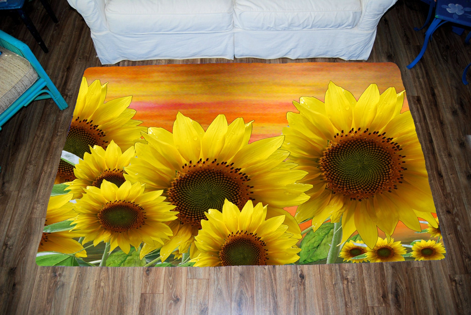 Sunflower Area Rug by Maremade