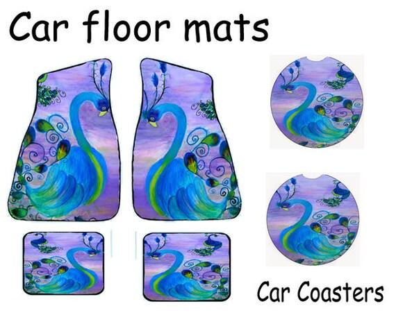 Peacock Coastal Tropical Bird Car Mats Front And Rear With Etsy