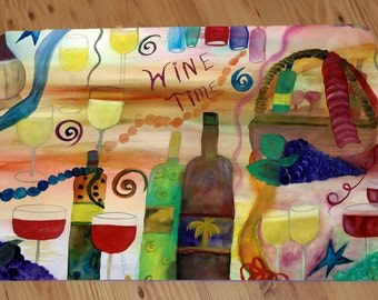 Wine time wine bar comfort foam floor mat from art. Available in 3 sizes