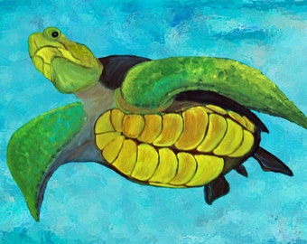 Sea Turtle Pillow Case from my original art