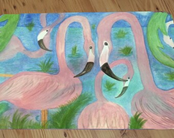 Flamingo Party Comfort Floor Mat available in 3 sizes