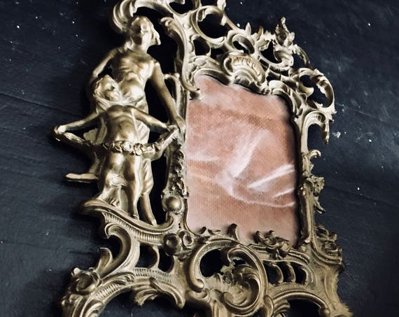 Antique Picture Frame, dated 1786, French, shabby Chic. Jeanne d'arc, Vintage by Nina