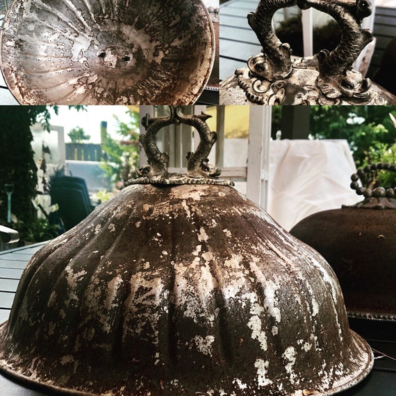 Antique Cloche, plated, Beautiful as found Antique Cloche