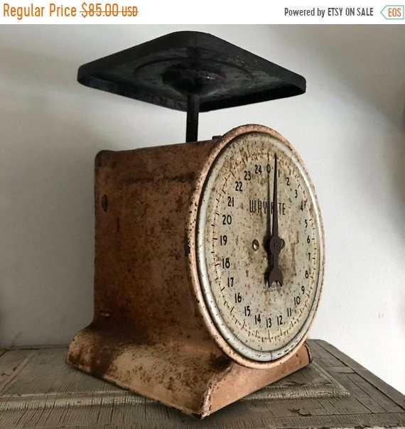 SALE 50 OFF Scale, Antique Scale, Family Scale, Industrial Kitchen.
