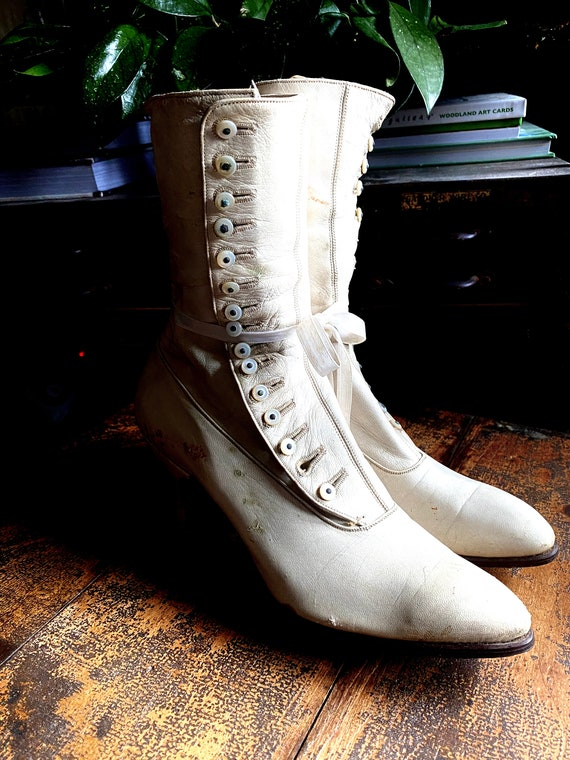 Victorian Shoes, Victorian Boots,DECOR ONLY Shabby, French.