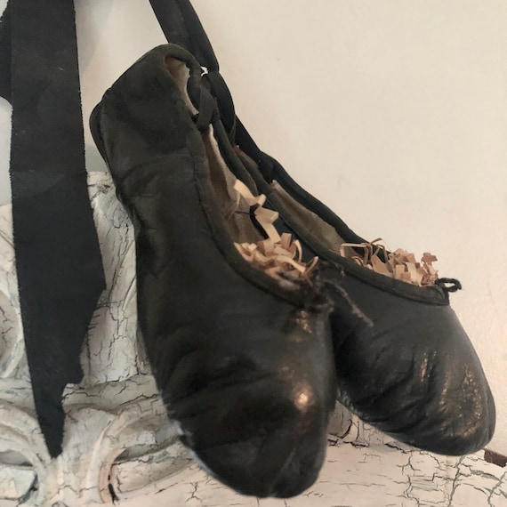 Ballet Slippers, purchased in Paris, vintage, worn and loved, shabby, child size