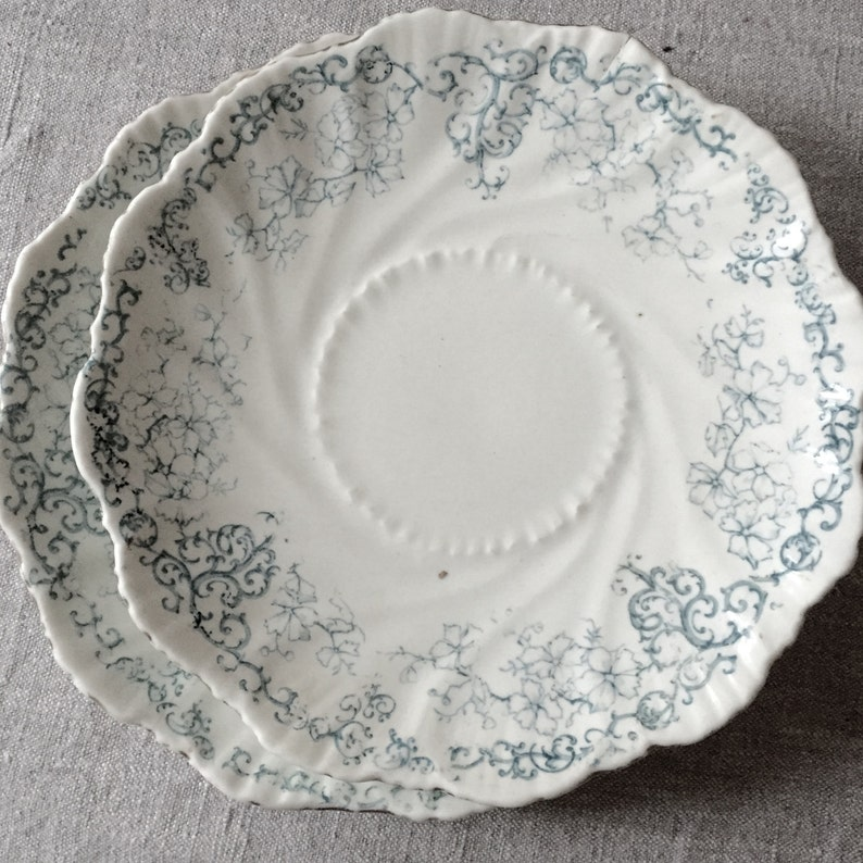 Antique Dishes. French teal blue image 0