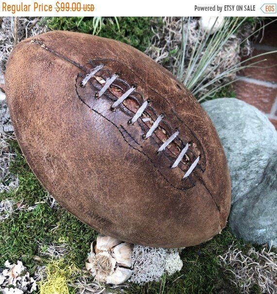 SALE 50 OFF Vintage Football, Antique football,industrial, Industrial decor