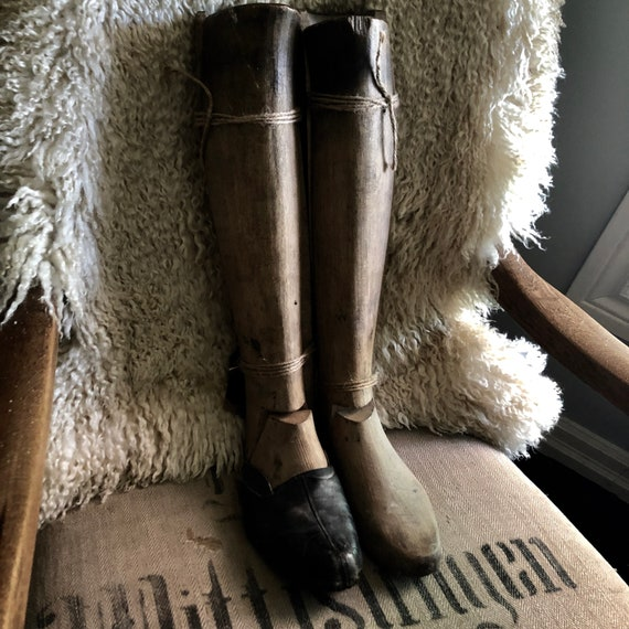 Antique Lasts for Riding boots,all wooden..