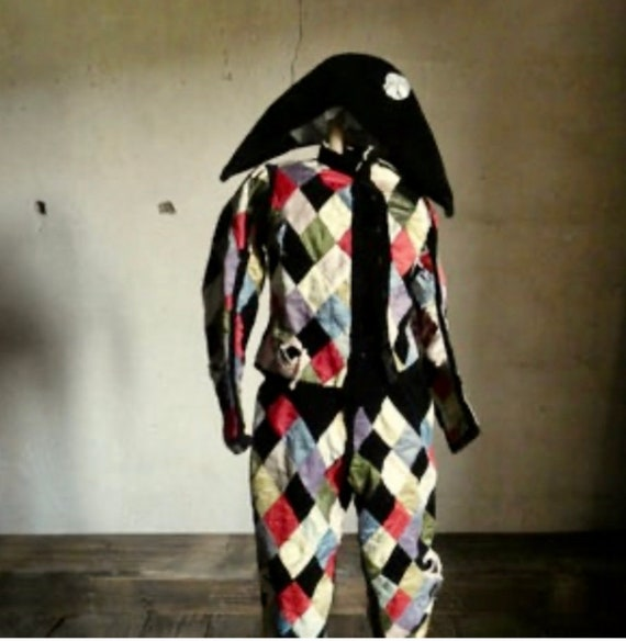 Antique French Harlequin Outfit, 1880