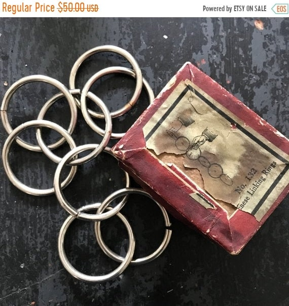 SALE 50 OFF Vintage Magic Trick, antique magic rings,