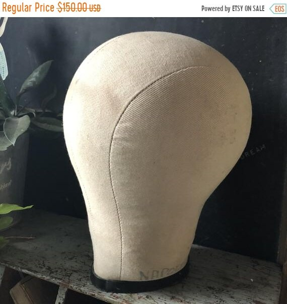 SALE 50 OFF Hat Stand millinery, 1900 Antique, mannequin head
