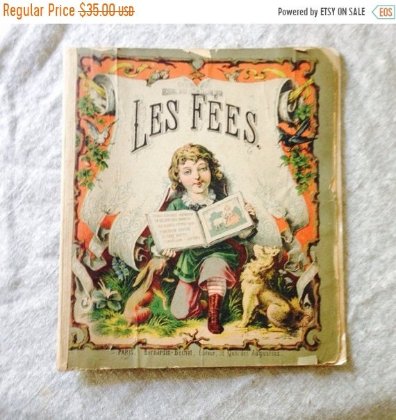 SALE LAST CHANCE Antique Children's Book, French, published in Paris.